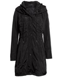 Via Spiga - Packable Raincoat, Black - Lyst