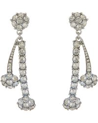 Oscar de la Renta - Double Crystal Drop Earrings - Lyst