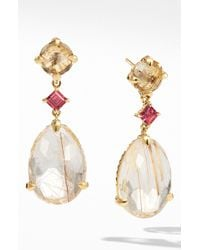 David Yurman - Chatelaine Drop Earrings In 18k Yellow Gold - Lyst