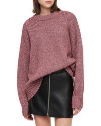 AllSaints - Gemini Metallic Knit Sweater - Lyst