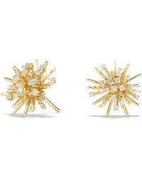 David Yurman - Supernova Stud Earrings With Diamonds In 18k Gold - Lyst
