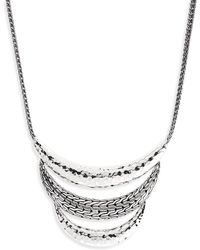 John Hardy - Classic Chain Hammered Silver Necklace - Lyst