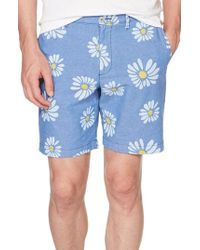Original Penguin - P55 Exploded Daisy Print Oxford Shorts - Lyst