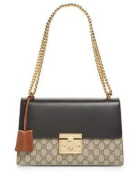 Gucci - Medium Padlock Leather Shoulder Bag - Lyst