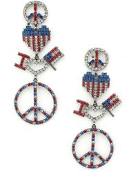 Elizabeth Cole - Liberty Drop Earrings - Lyst