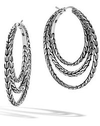 John Hardy - Classic Chain Medium Hoop Earrings - Lyst