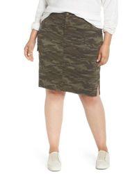 Caslon - Caslon Twill Utility Skirt - Lyst