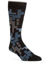 Bugatchi | Geometric Mercerized Socks | Lyst