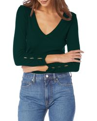 Michael Stars - Sleeve Cutout Ribbed Top - Lyst