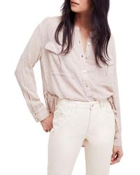 Free People - Talk To Me Top - Lyst