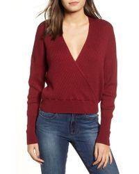 Leith - Rib Wrap Sweater - Lyst