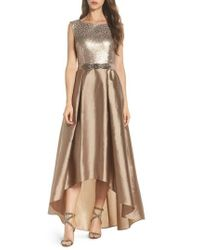Adrianna Papell - Ombre Sequin Ballgown - Lyst