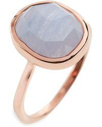 Monica Vinader - Siren Medium Semiprecious Stone Stacking Ring - Lyst