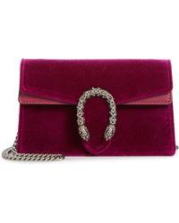 dc09dff4e8d Gucci - Super Mini Dionysus Velvet Shoulder Bag - - Lyst