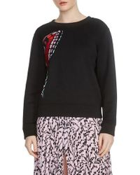 Maje - Theophile Embroidered Sweatshirt - Lyst