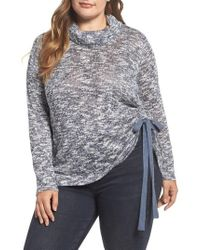 Two By Vince Camuto - Drawstring Side Sweater - Lyst