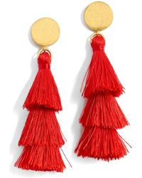 J.Crew | J.crew Tiered Tassel Earrings | Lyst