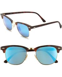 2d497fa578 Lyst - Ray-Ban 50mm Round Sunglasses - in Green for Men - Save ...