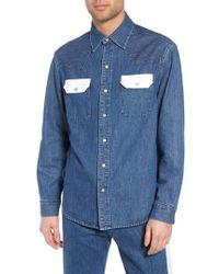 Calvin Klein Jeans - Calvin Klein Archive Colorblock Denim Western Shirt - Lyst