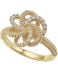 Lagos - 'love Knot' Diamond Ring - Lyst