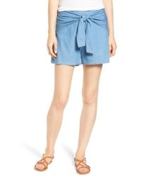 Mimi Chica - Tie Front Shorts - Lyst