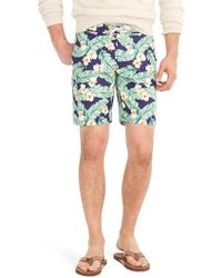 J.Crew | J.crew Jungle Fern Print Swim Trunks | Lyst