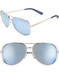 35849d5327 Michael Kors - Collection 59mm Polarized Aviator Sunglasses - Lyst