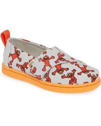 2867e531126bc6 TOMS - X Sesame Street Alpargata - Elmo Slip-on Sneaker - Lyst