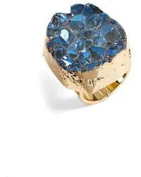 Elise M Noa Drusy Quartz Ring