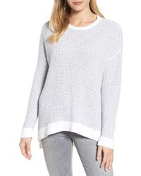 Eileen Fisher - Waffled Organic Cotton Sweater - Lyst