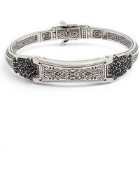 Konstantino - Double Stavros Spinel Cross Cuff Bracelet - Lyst