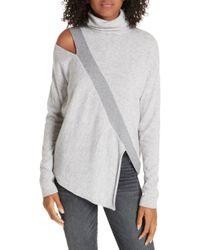 ff1704a2026 Brochu Walker - Fae Cold Shoulder Asymmetrical Cashmere Blend Sweater - Lyst