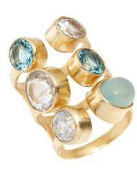 Elise M - Dani Semiprecious Stone Ring - Lyst