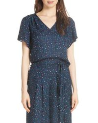 Rebecca Taylor - Speckled Silk Blouse - Lyst
