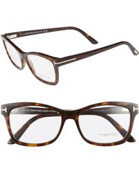 63b786e71b71 Lyst - Tom Ford 51mm Round Optical Glasses - in White