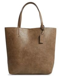 Sole Society - Nuddo Faux Leather Tote - Lyst
