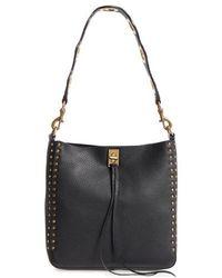6db56121627b Rebecca Minkoff - Small Darren Deerskin Leather Feed Bag - Lyst