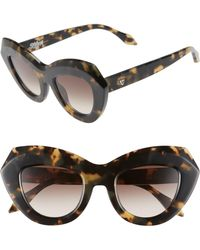 813d797bcd Valley Eyewear - De La Luna 46mm Gradient Cat Eye Sunglasses - - Lyst