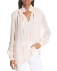 Tory Burch - Haley Silk Blouse - Lyst