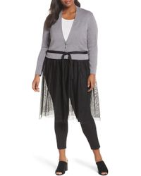 NIC+ZOE - Tulle Time Cardigan - Lyst