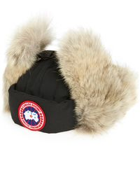 1502146a5af Canada Goose - Down Fill Aviator Hat With Genuine Coyote Fur Trim - Lyst