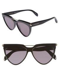 Alexander McQueen - 58mm Cat Eye Sunglasses - Lyst
