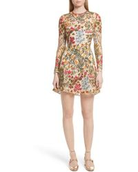 RED Valentino - Floral Vine Embroidered Tulle Dress - Lyst