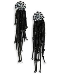 Kate Spade - Beaded Tassel Earrings - Lyst