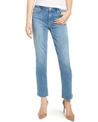 Mother - The Rascal Ankle Snippet Straight Leg Jeans - Lyst