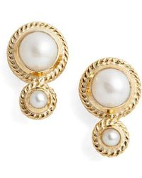 Anna Beck - Pearl Double Stud Earrings - Lyst