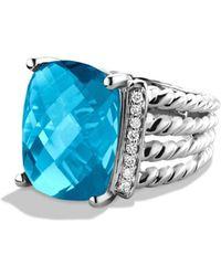 David Yurman - 'wheaton' Ring With Semiprecious Stone & Diamonds - Lyst