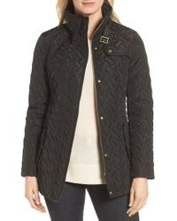 Cole Haan - Quilted Short Coat - Lyst
