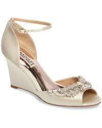 Badgley Mischka - Malorie Embellished Sandal - Lyst