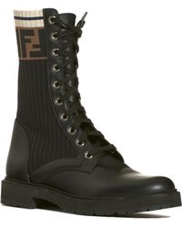 Fendi - Rockoko Chelsea Sock Combat Boot - Lyst